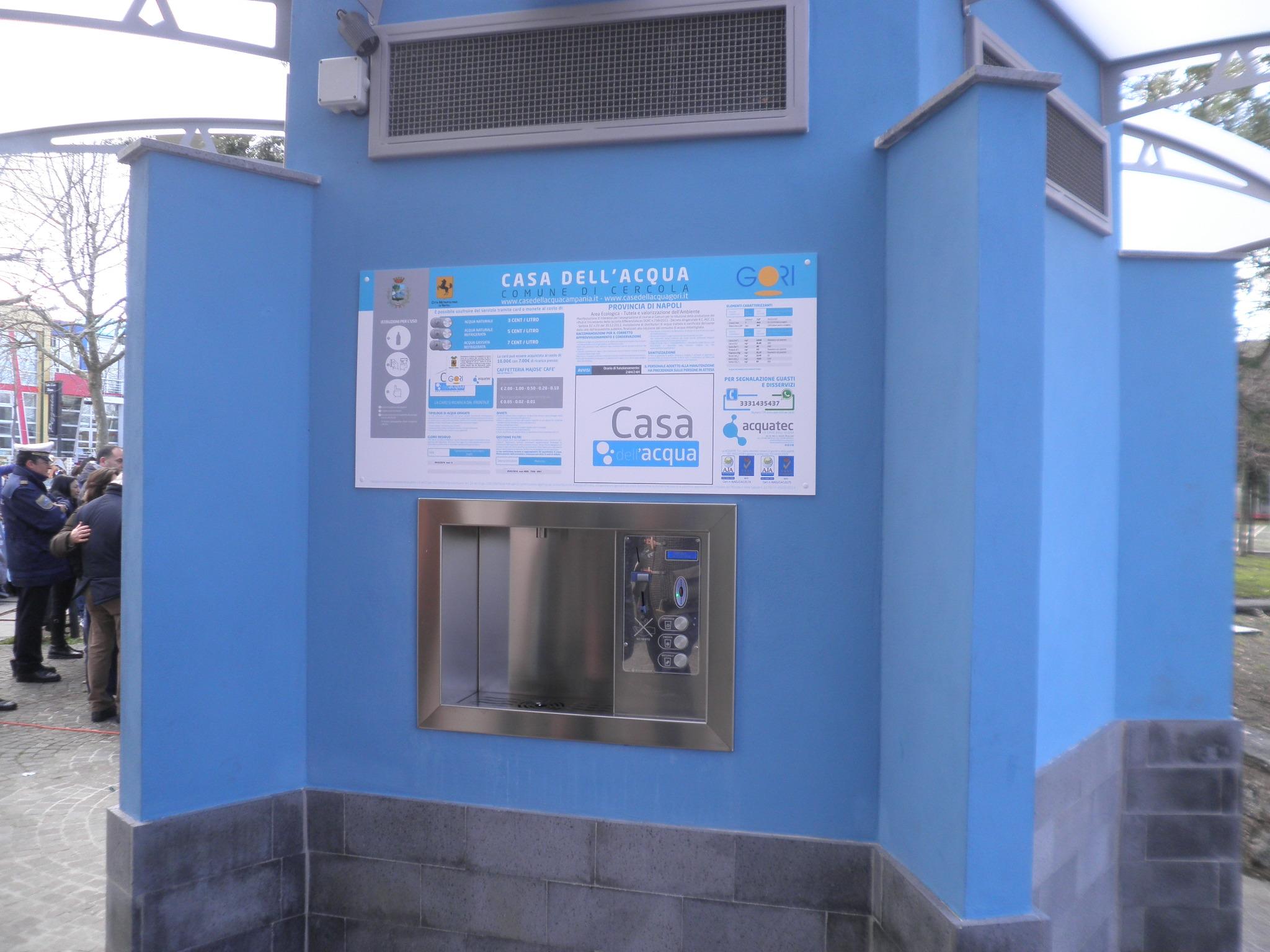 Cercola inaugurata la casa dell 39 acqua - Giusta pressione dell acqua in casa ...