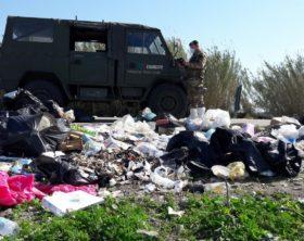 Foto 2 - Rilievi su un sito di rifiuti illegale