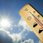 Summer heat on the thermometer