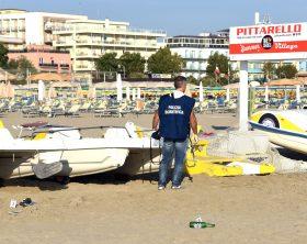 Rimini 26-08-2017 - Aggressione stupro coppia polacchi spiaggia bagno 130 Rimini. © Manuel Migliorini  Adriapress
