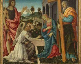 Filippino Lippi_Annunciazione e Santi_Napoli, Museo e Real Bosco