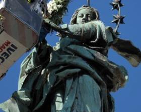 Piazza del Gesù nuovo, festa dell'Immacolata