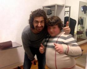 Sanremo: dopo gaffe, Siani posa con bimbo in sovrappeso
