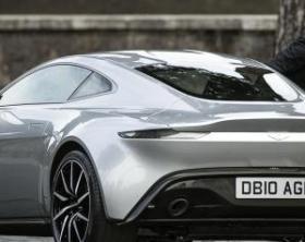 Daniel Craig sul set film James Bond 007 'Spectre' a Roma