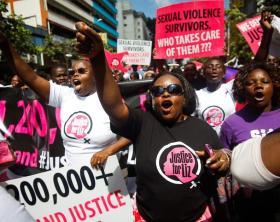 Kenyans protest against police after alleged gang-rape