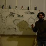 Tela di Francesco De Siena per Città della Scienza