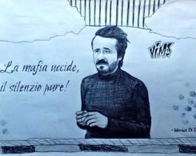 Primo bozzetto del Murales realizzato da Vincenzo Magno