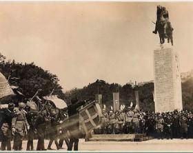 Inaugurazione del monumento equestre dedicato ad Armando Diaz