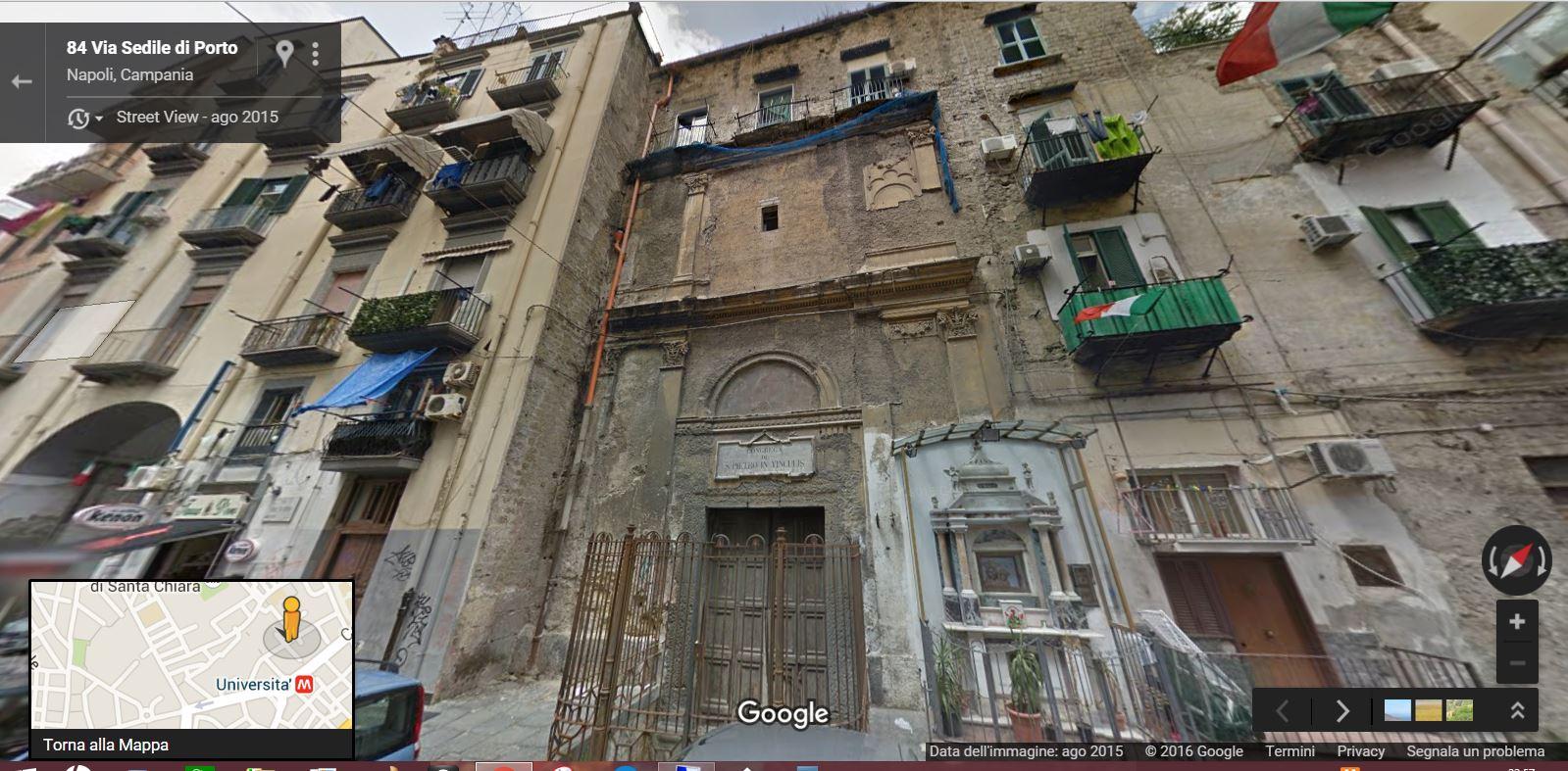 Via Sedile Di Porto.Degrado Della Chiesa Di San Pietro In Vinculis Napolitan It