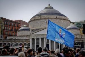 Calcio: flash-mob a Napoli contro squalifica a  Higuain