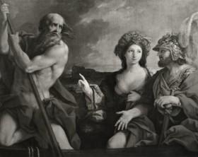 Enea e la Sibilla cumana traghettati da Caronte, sec. XVII, Sirani Giovanni Andrea.