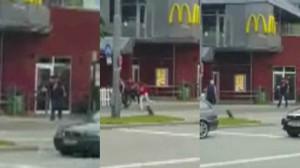 estratto dal video amatoriale della sparatoria