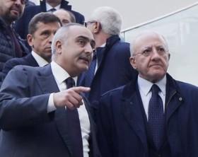 Il direttore generale del cardarelli Ciro Verdoliva ed il presidente della regione Campania Vincenzo De Luca