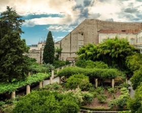 I giardini del moderno campus universitario del Suor Orsola