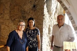 Maura Calefati (regista RAI) Francesca Casule (Soprintendente di Salerno) Michele Faiella (Funzionario Soprintendenza) (1)