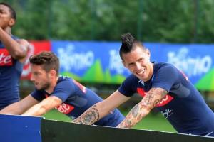 Calcio: Napoli; primo giorno di allenamenti per Higuain