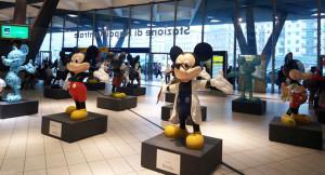 Topolino in mostra alla stazione centrale di Napoli