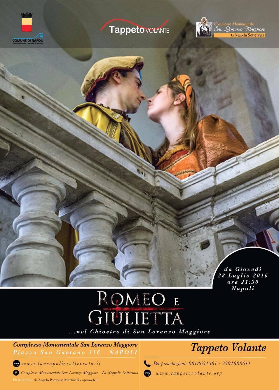 romeo e giulietta chiostro di san lorenzo maggiore
