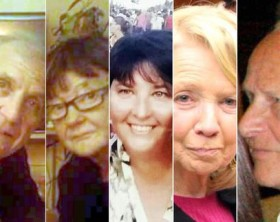 Nizza, da sinistra: Angelo D'Agostino, Gianna Muset, Carla Gaveglio, Maria Grazia Ascoli e Mario Casati.