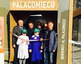 Inaugurazione PalaComieco Acerra- taglio del nastro