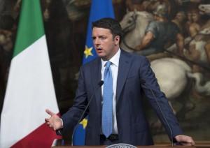 Italian premier Matteo Renzi meets Nato secretary general Jens Stoltenberg