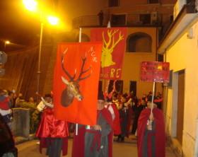 ruviano_processione nel centro cittadino dei cornuti
