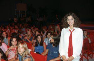 Ambra Angiolini and Alessia Merz at Non è la Rai