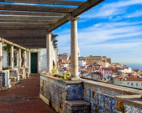 Lisbon, Santa Luzia viewing point over the Alfama district
