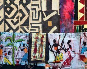 11458656-artigianato-in-namibia-e-sud-africa-selezione-di-tessuti-colorati-archivio-fotografico