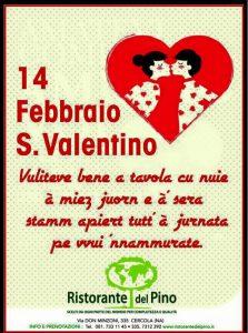 San Valentino Al Ristorante Del Pino Gadget In Omaggio E
