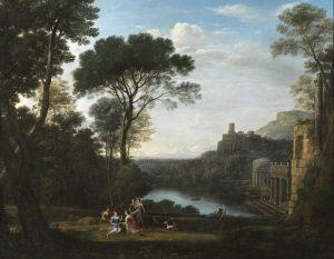 Napoli, Museo e Real Bosco di Capodimonte Claude Lorrain, Paesaggio con la ninfa Egeria, 1669, olio su tela, cm 155 x 199