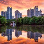 Atlanta Midtown Skyline at Sunset