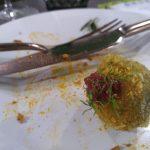 Bon bon di baccalà in panko alle alghe