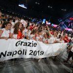 La cerimonia di chiusura delle Universiadi 2019 a Napoli,14 Luglio 2019. - Photo Pool Fotografi Universiade 2019
