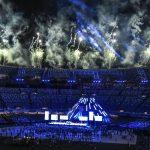 - NAPOLI 14  LUG  2019 -  Napoli stadio San Paolo cerimonia di chiusura della XXX Olimpiade Universitaria Summer Universiade 2019.  Fuochi finale manifestazione