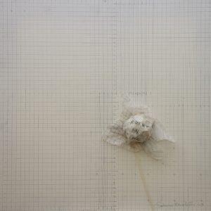 Sabrina Bertolelli, Point in time, tecnica mista su tela preparata, 50x50 cm, anno 2019