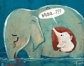elefantessa-incinta-india-disegno-funchershop