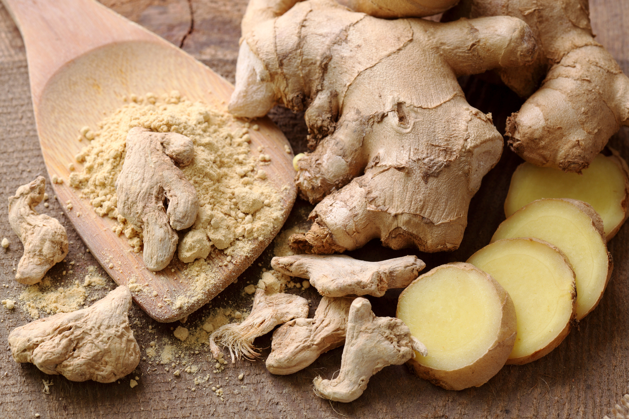 Fresh, dried and powdered ginger