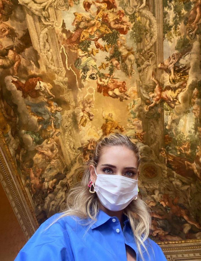 Chiara Ferragni in visita a Palazzo Barberini