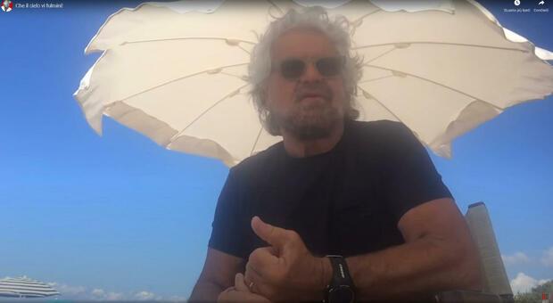 """Video Grillo contro i """"no Mask"""", """"che il cielo vi fulmini!"""""""