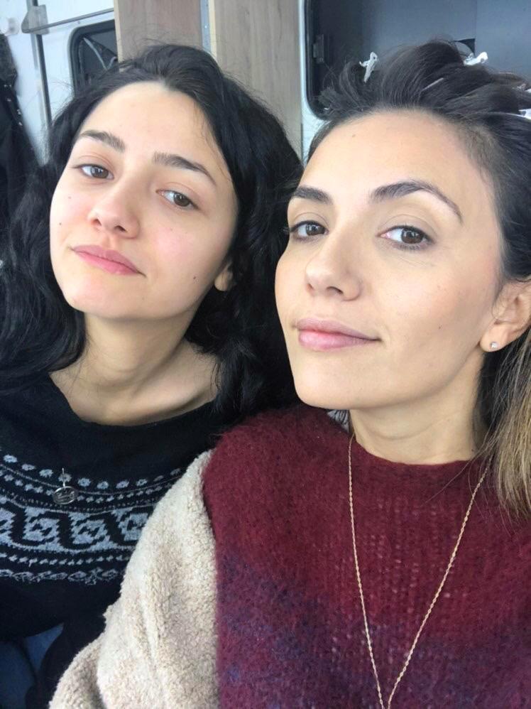 """Anna Lucia Pierro e Serena Rossi durante le riprese di """"Mina Settembre"""""""