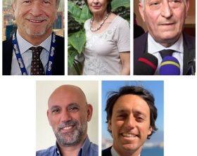 Da sinistra Francesco Perillo, Renata Gelmi, Antonio Tosi; in basso da sinistra Carlo Dini, Stefano Barone